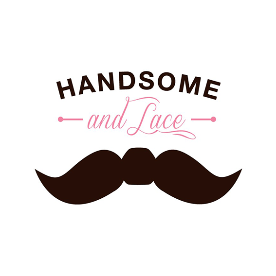 Handsome and Lace logo EN