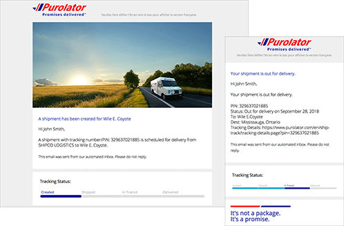 How to manage your Purolator Shipping Notifications